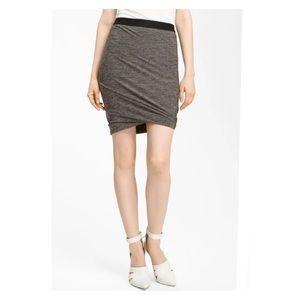 T by Alexander Wang Marled Jersey Twist Skirt XS